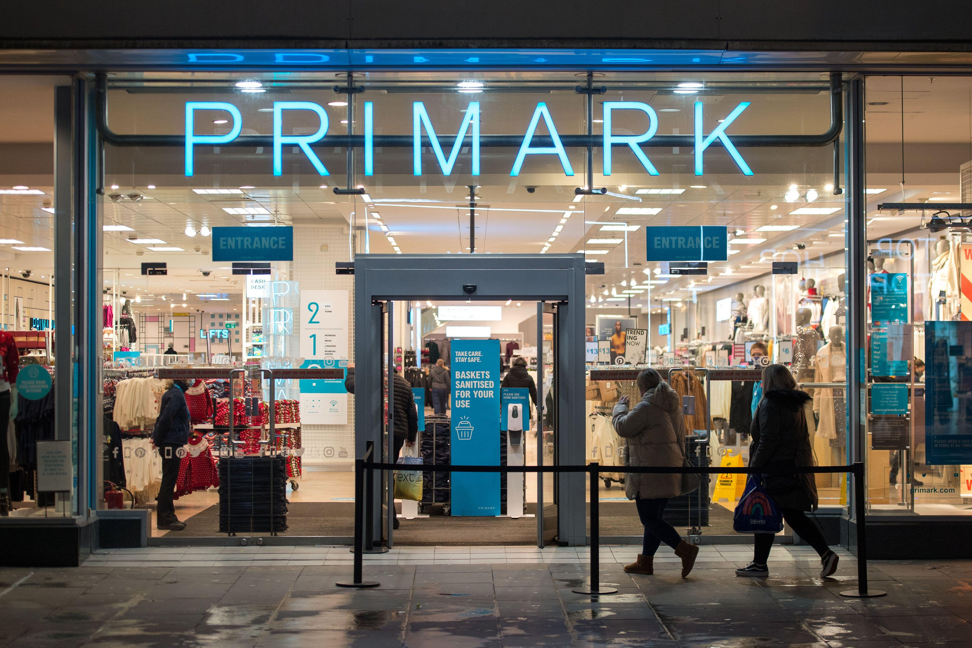 Primark customers will have to wait until restrictions are eased before they can shop at the retailer again