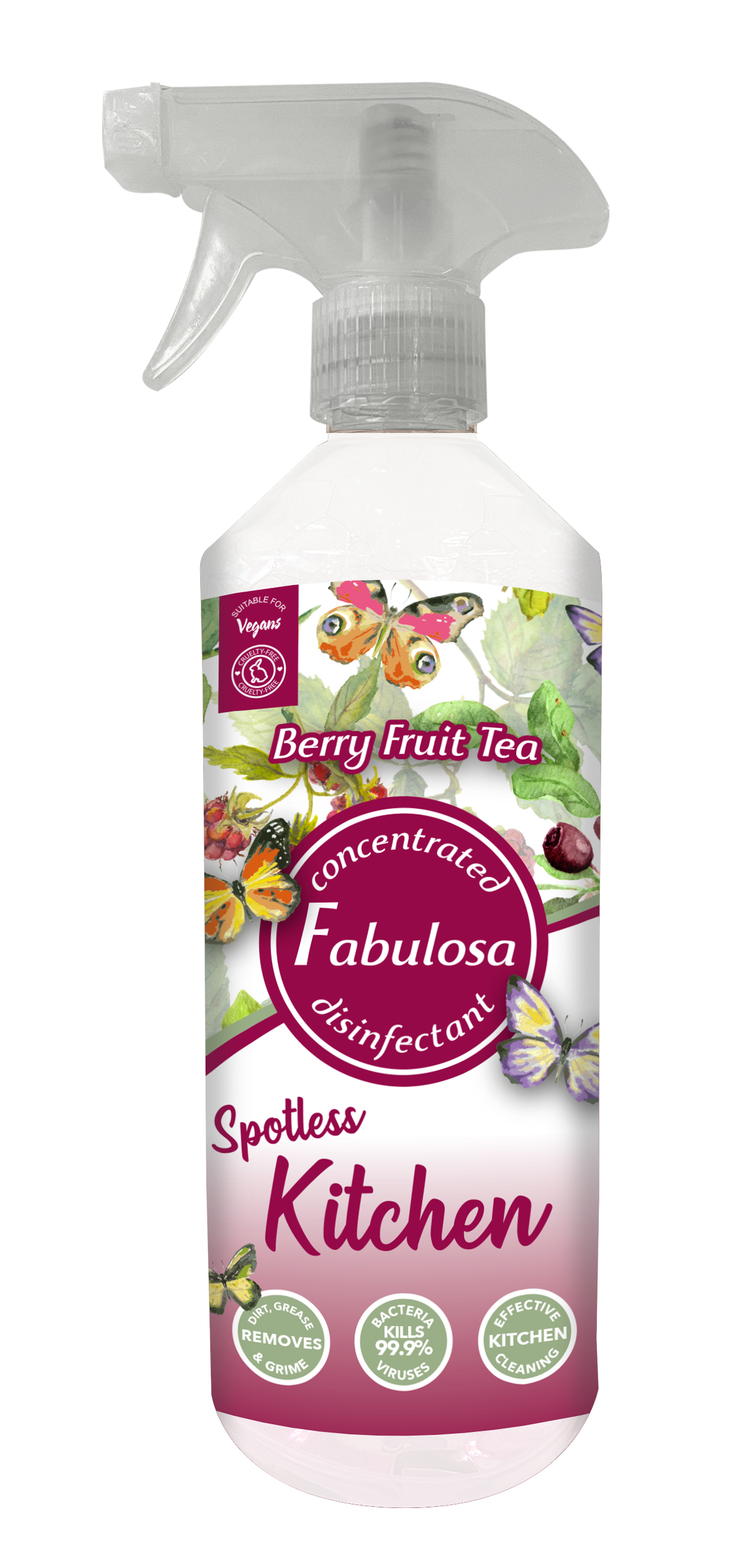 The Fabulosa berry fruit tea spotless kitchen cleaner spray is just £1 for 500ml