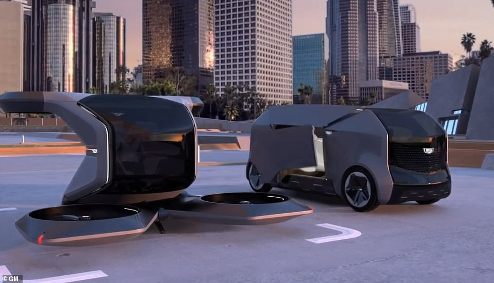 GM have unveiled an animated video showing the one-seat aircraft