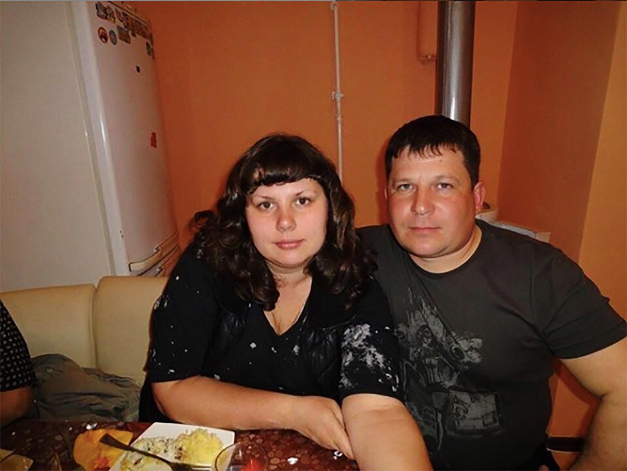 Marina Balmasheva with her stepson's dad Alexey Shavyrin several years ago