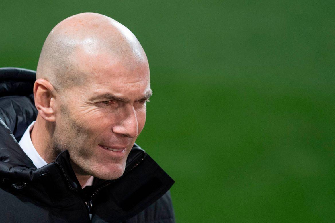 Zinedine Zidane's side are second in the La Liga table