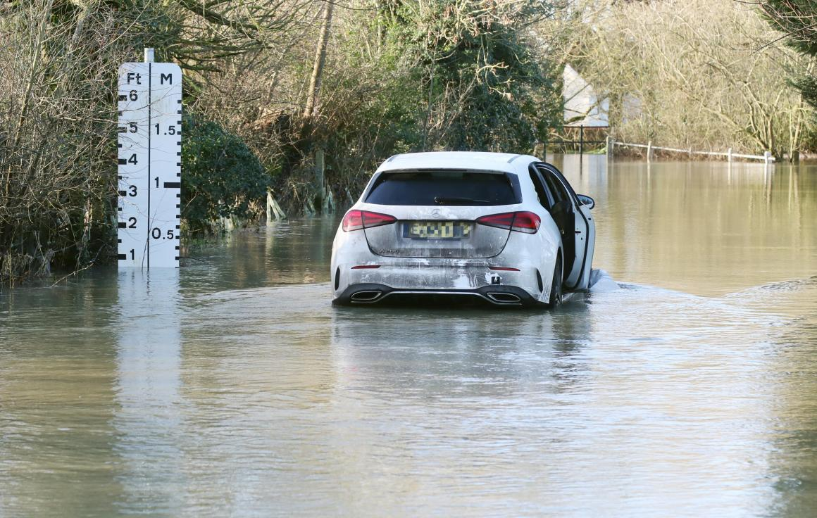 Heavy rain and snowfall has caused several roads in Chelmsford to flood