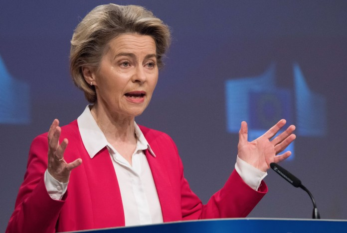European Commission President Ursula von der Leyen delivered most of her State of the Union flagship speech in English