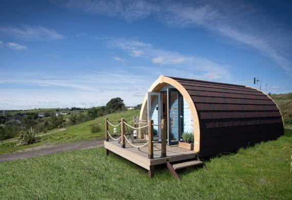 Stay in a wooden glamping pod in the Lancashire countryside