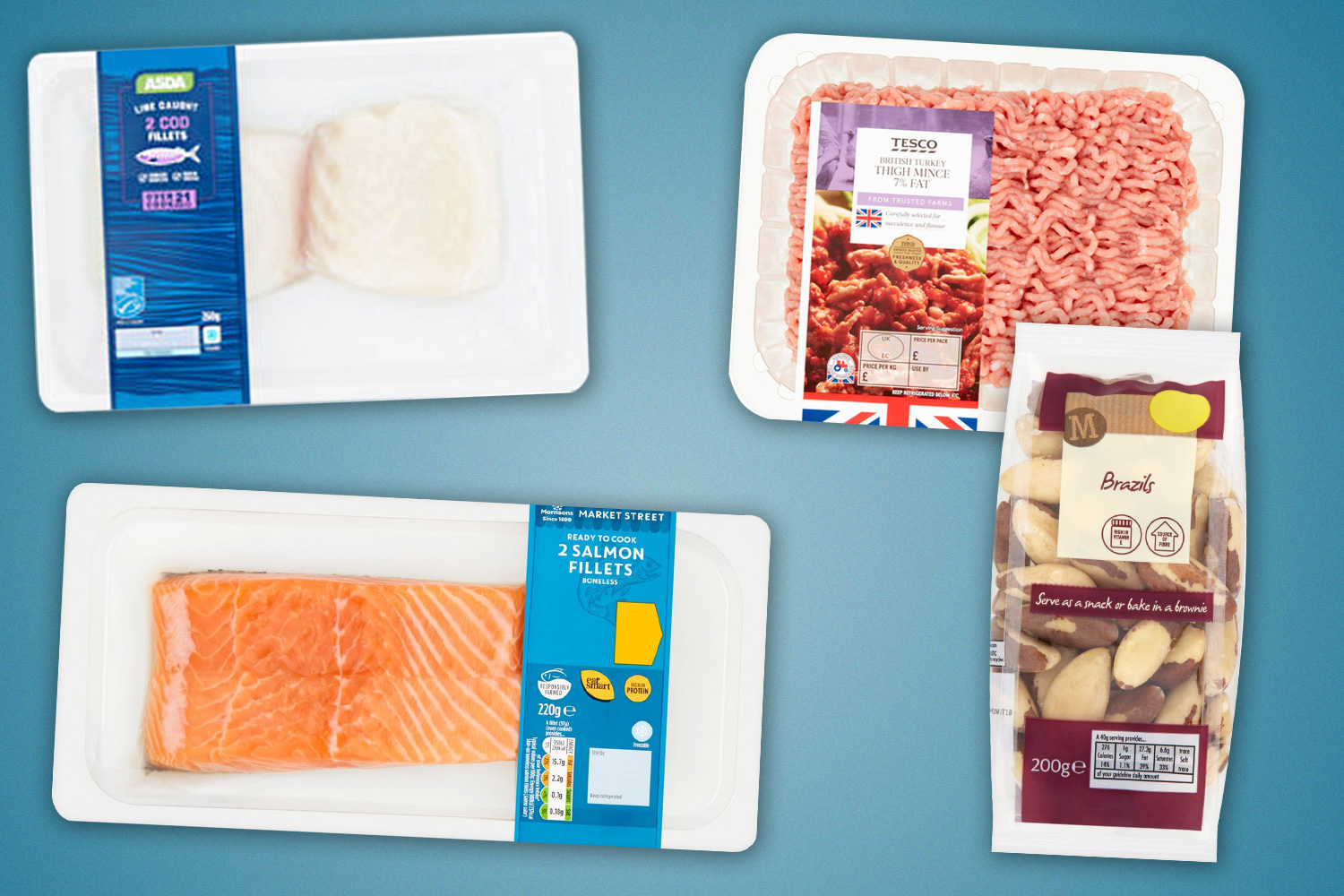 Great mood-boosting swaps include fish and turkey