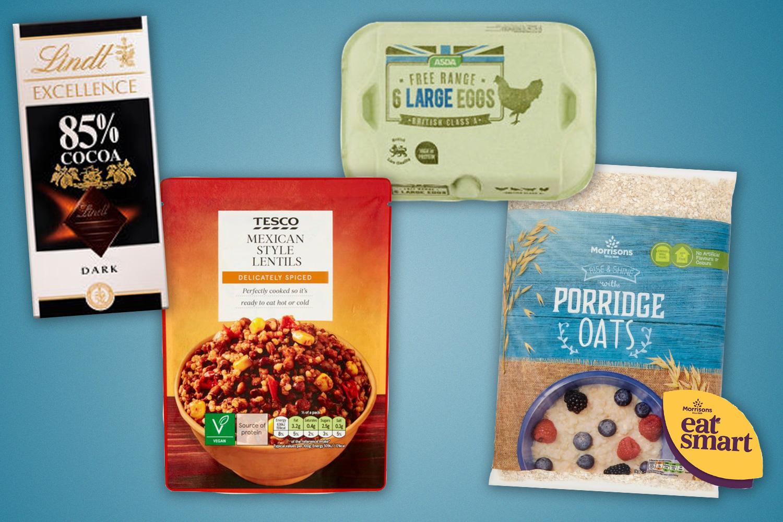 Dark chocolate, lentils, porridge and eggs are all feelgood foods