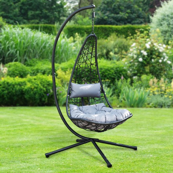 B&M is selling this brand new hanging egg chair for £125
