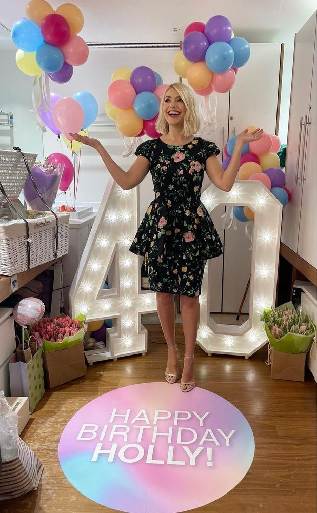 The star celebrated her birthday yesterday on This Morning