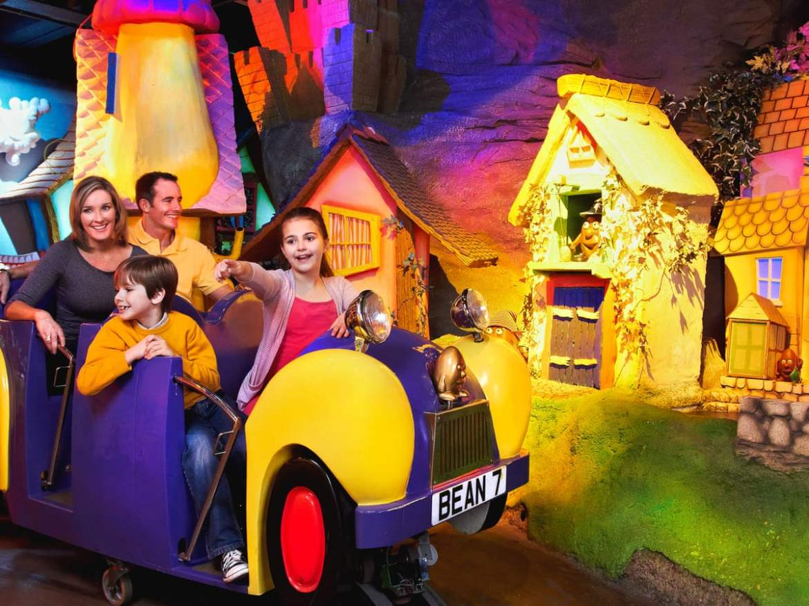 Coach trips to attractions such as Cadbury World are a stress-free holiday for families