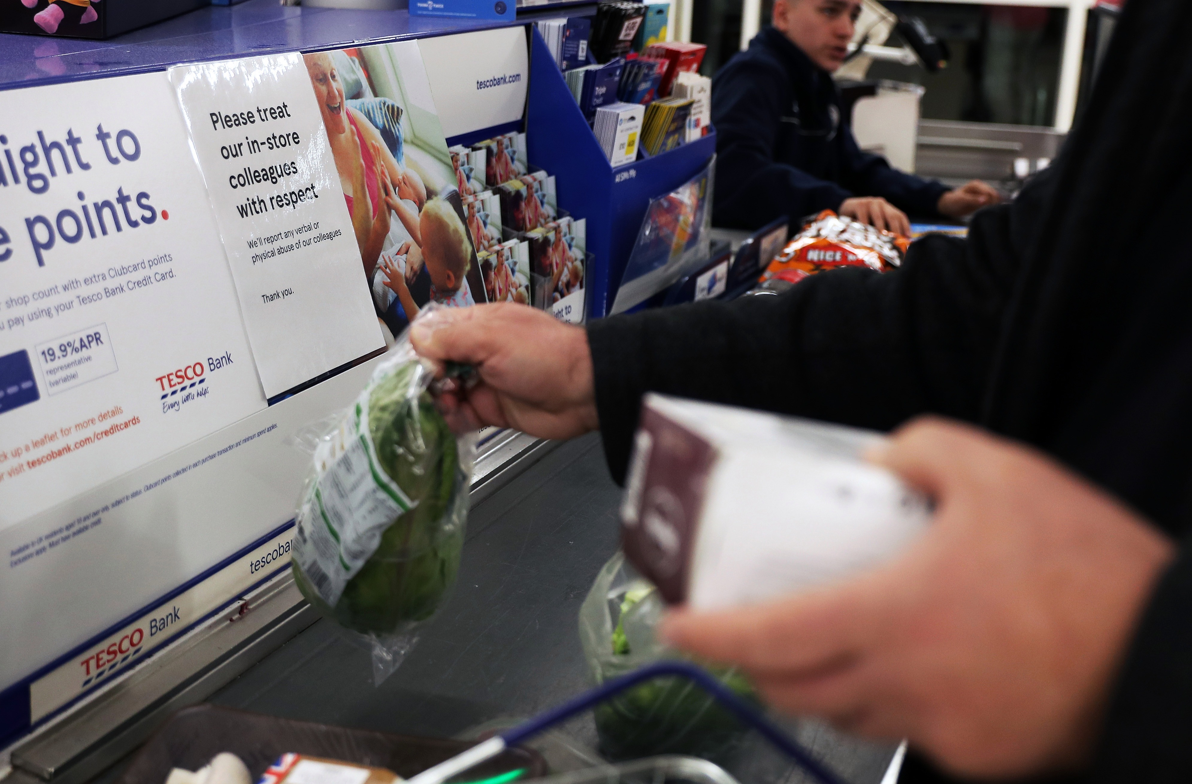 The error happened when customers were paying for their shopping in store at the checkout