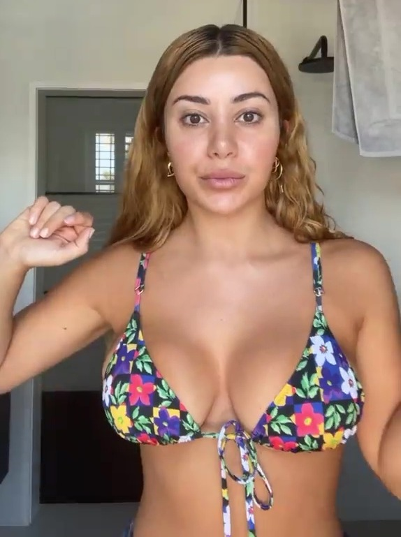 Martha recently showed off what she called her 'huge' boobs in a video