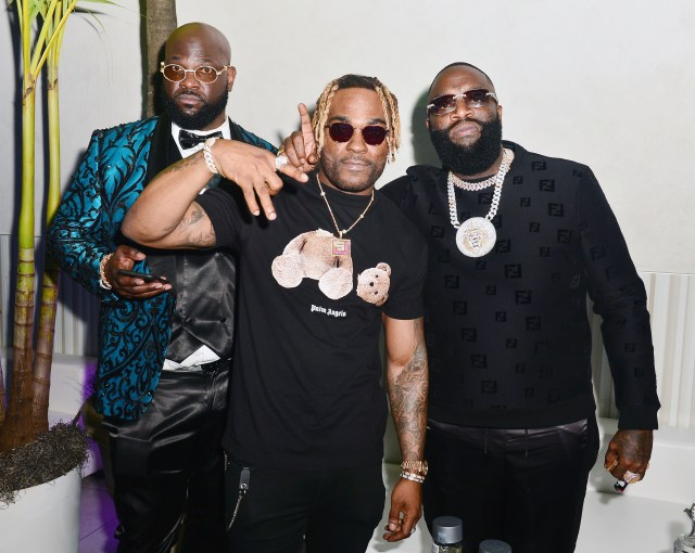 Rick Ross pictured with guests