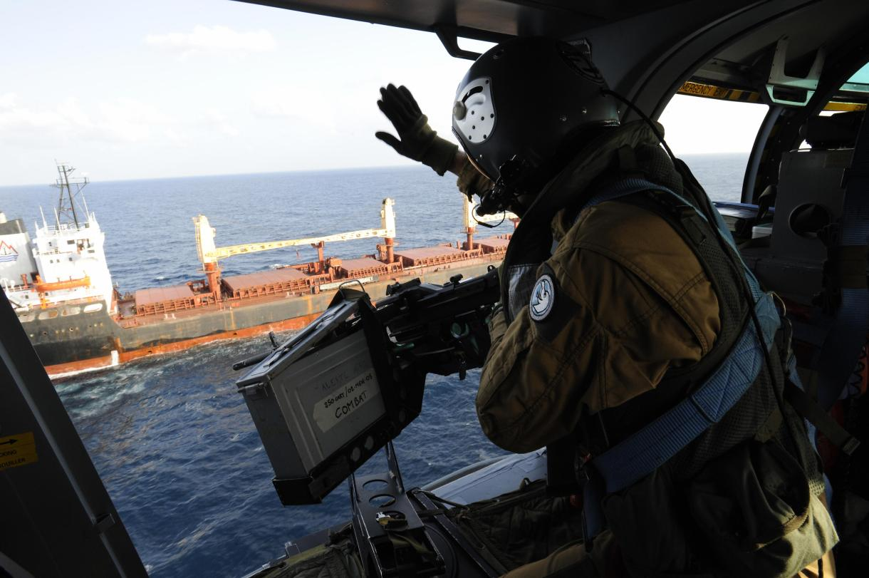 Panther helicopters are used to patrol piracy hotspots
