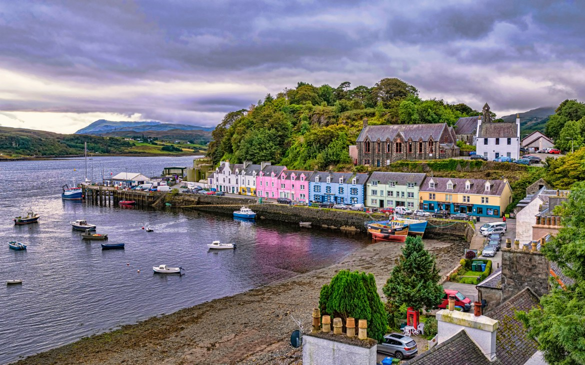 Portree is the largest town on the Isle of Skye
