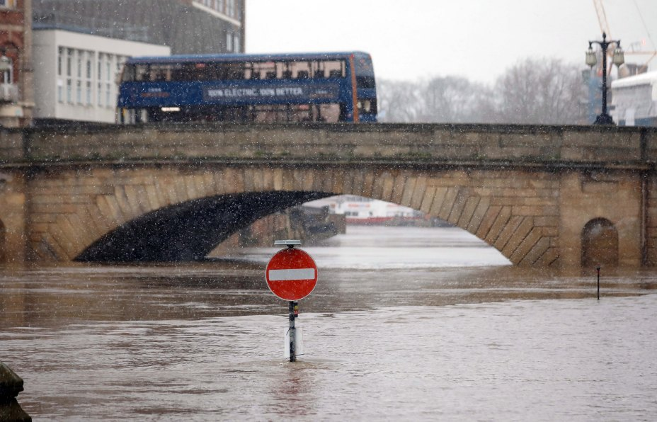 York has been hit by serious flooding - just weeks after Storm Christoph caused chaos