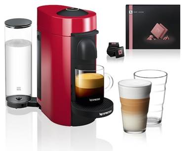 Get the VertuoPlus machine for £99, down from £179, free chocolates and two coffee glasses