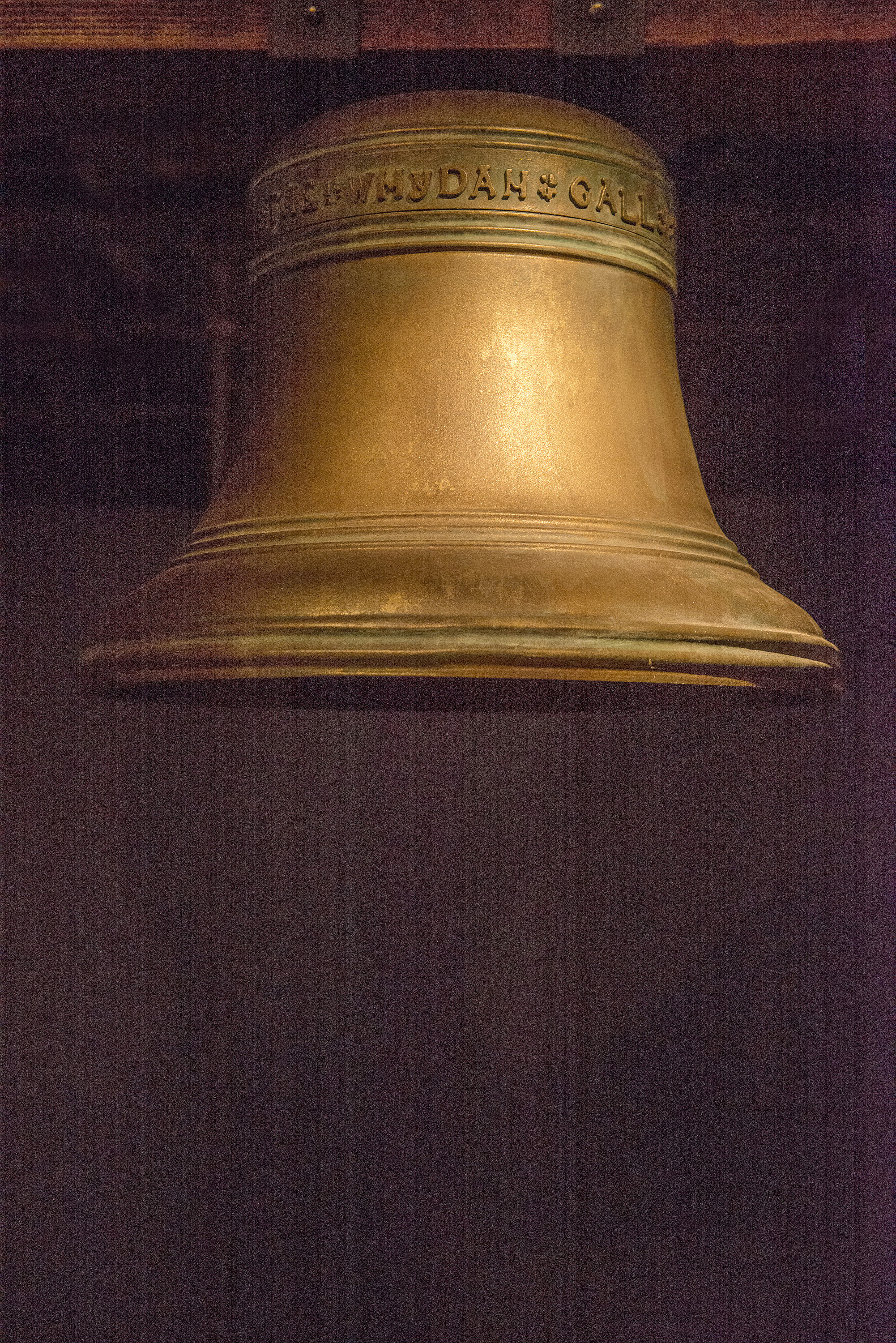 This is the bell from the Whydah ship