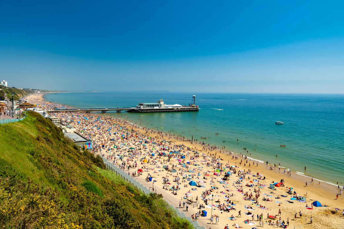 Bournemouth beach in Dorset has been voted as the UK's favourite beach.