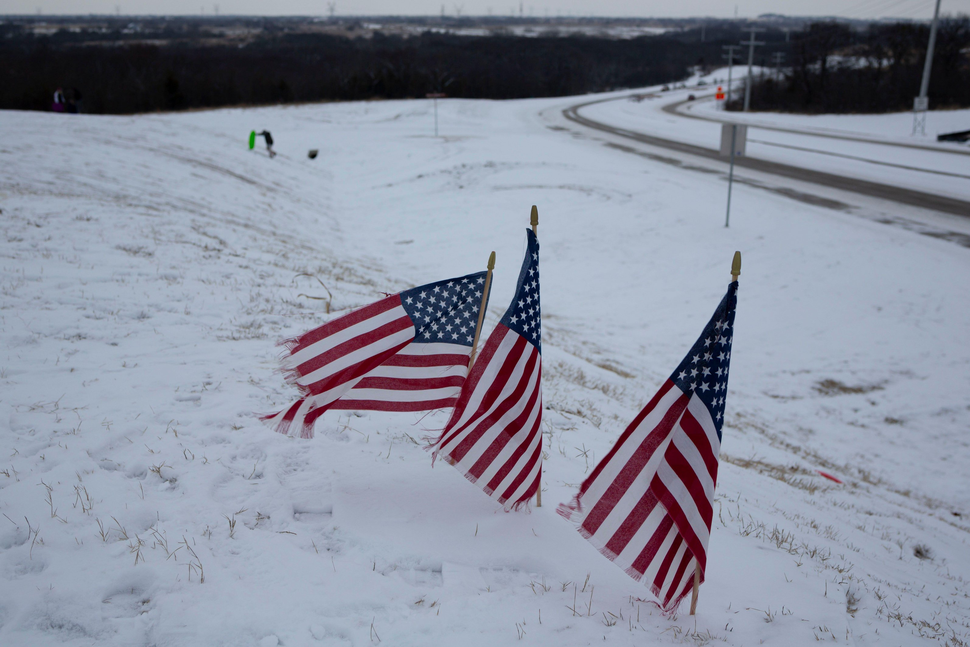 Wintry weather has been taking over southern states in the US