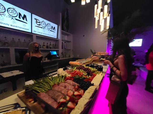 Delicious buffets and custom cocktails were available for guests