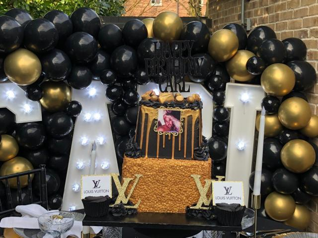 Carl's cake was inspired by designer Louis Vuitton