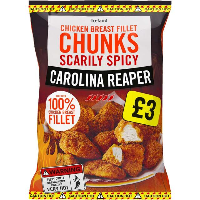 These Carolina Reaper chicken breast fillet chunks have been reduced to £2.50