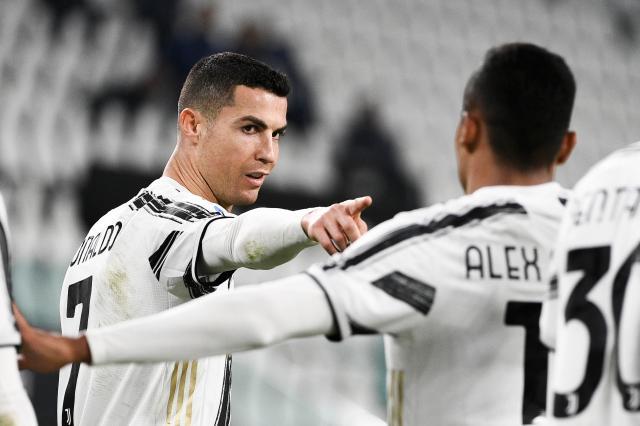 Cristiano Ronaldo celebrates one of his goals for Juventus