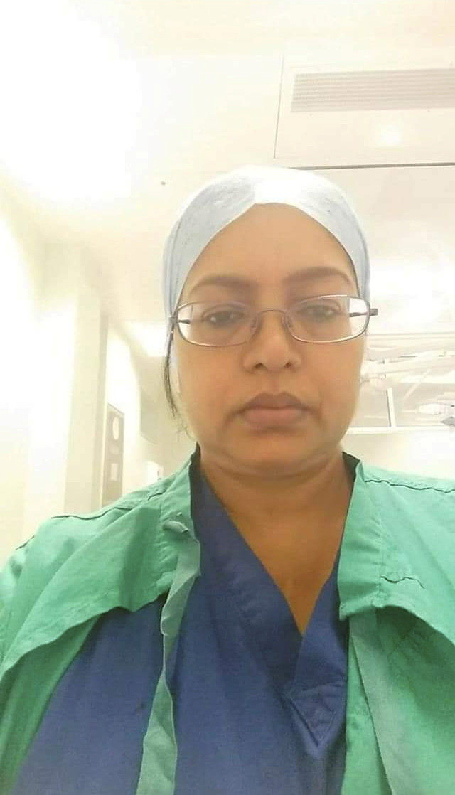 Ameta Rooplal cared for hundreds of patients with Covid on the respiratory ward at Birmingham City Hospital
