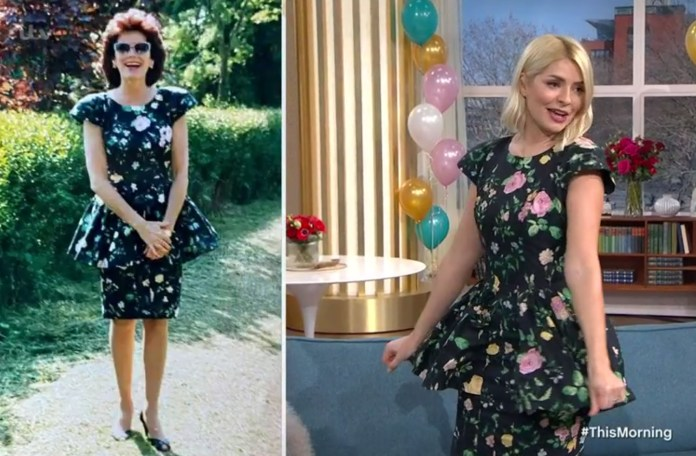 Holly wore the same dress as her mother did for her 40th birthday