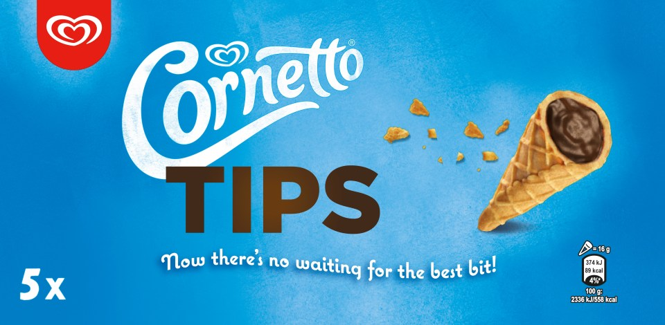 A box of five Cornetto Tips are £3 at Tesco