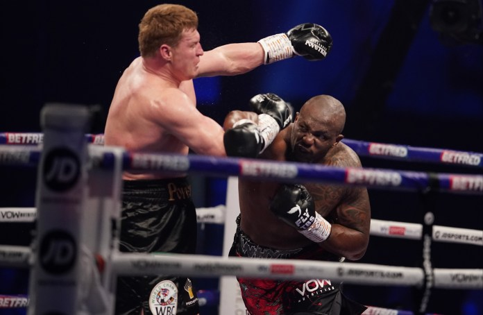 Dillian Whyte is looking for an opponent after beating Alexander Povetkin