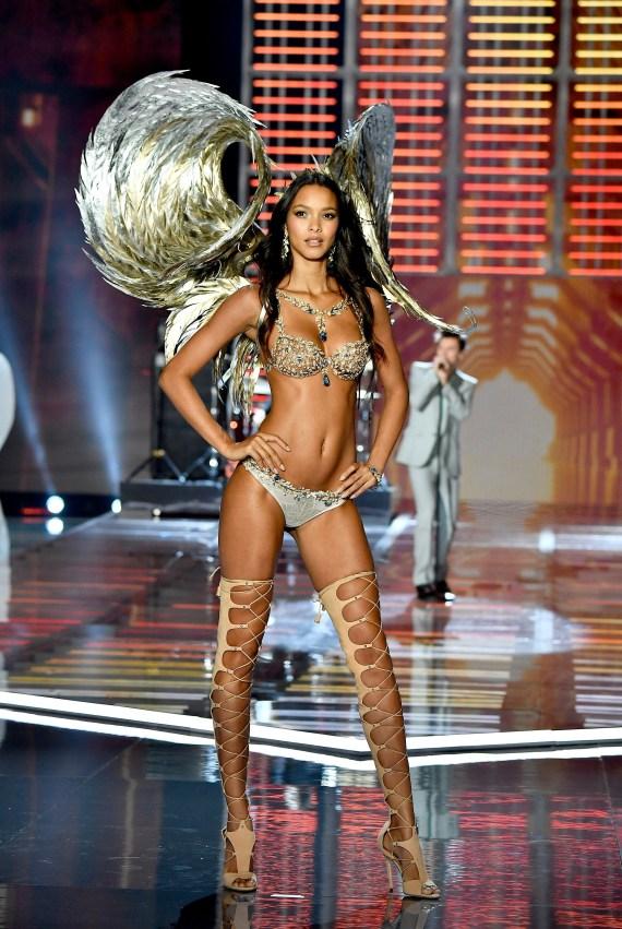 Ribeiro walks the runway during the 2017 Victoria's Secret Fashion Show