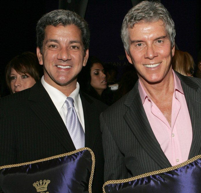 Bruce (left) and Michael did not meet until later in life