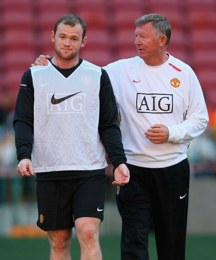 The retired manager, 79, spoke to pal Alastair Campbell about Rooney in 2010