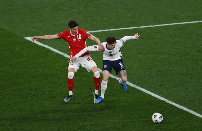 The defender struggled to control the ball, allowing Jakub Moder to score for Poland