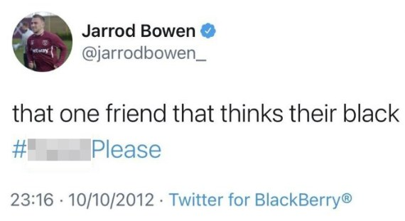 This was the tweet sent out by Bowen when he was a youngster at Hereford