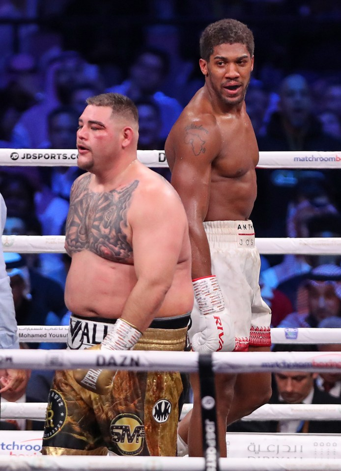 Ruiz Jr put on weight in his rematch against Anthony Joshua where he lost his world titles