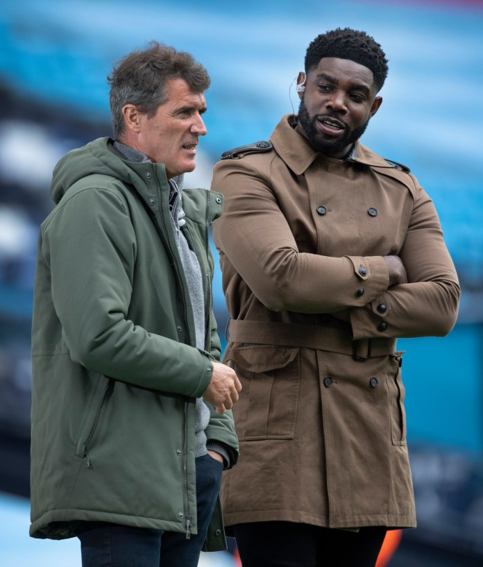 Roy Keane and Micah Richards work together for Sky Sports
