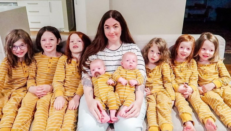 Mum-of-eight Chloe Dunstan starts her kids bedtime routine at 4:30pm