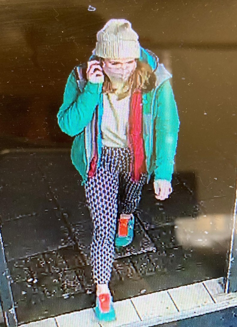 This is the last sighting of Sarah on CCTV at around 9.30pm