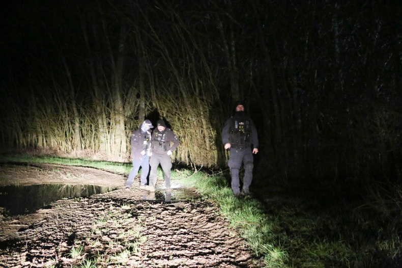 Specialist teams started hunting secluded wooded areas last night