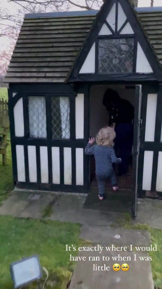 The Essex abode has an adorable Wendy house for Rex to play in