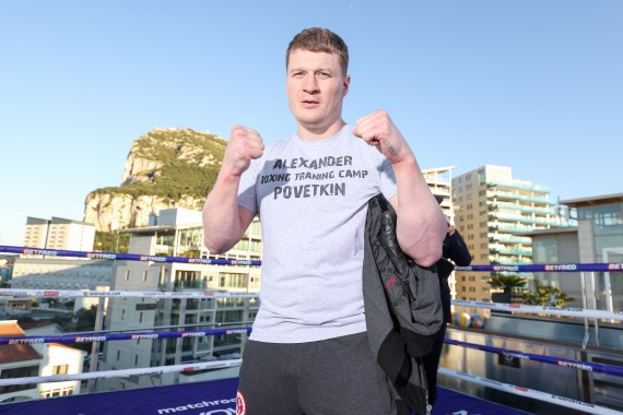 Alexander Povetkin training before his rematch with Dillian Whyte