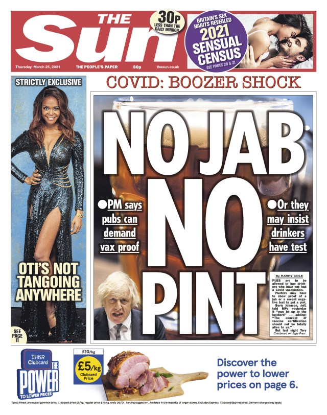 We told of the PM's pubs plan yesterday