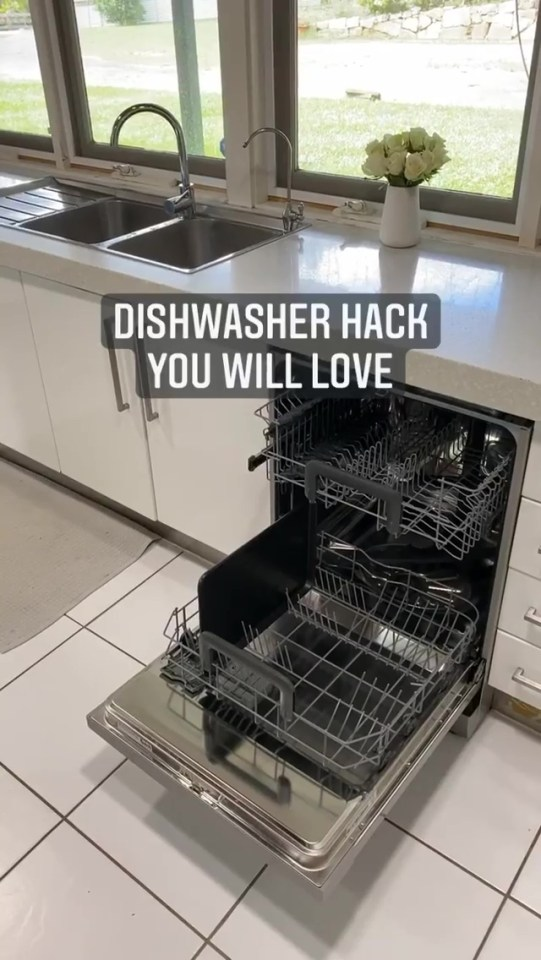 Creative home stylist Liz Amaya showed how to get your tall pots, pans and trays fitting in your dishwasher