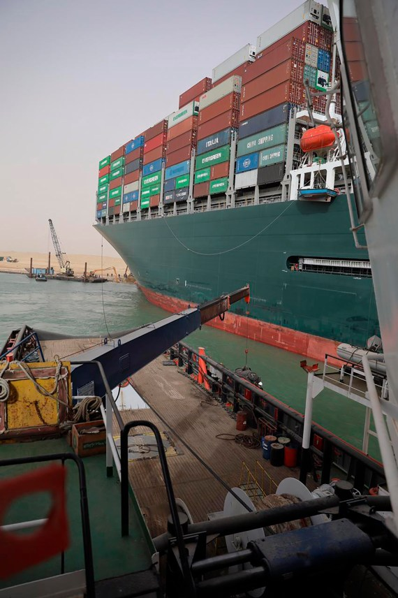 The Grand Tour was in Egypt last week, where a cargo ship has been stuck in the Suez canal