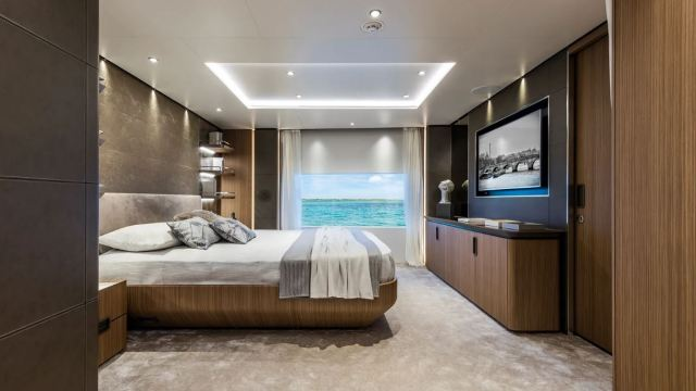 Out of the Blue can accommodate up to 10 guests in five cabins