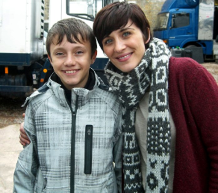 Gregory on set with Vicky