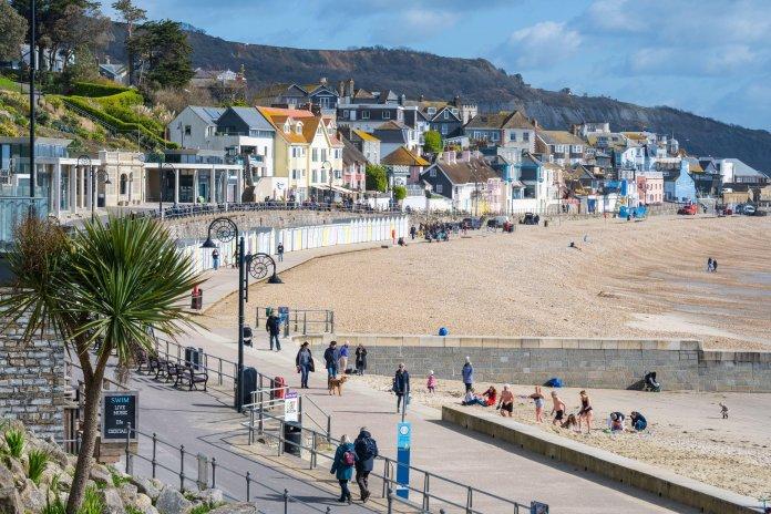 Lyme Regis in Dorset saw glorious sunshine this morning