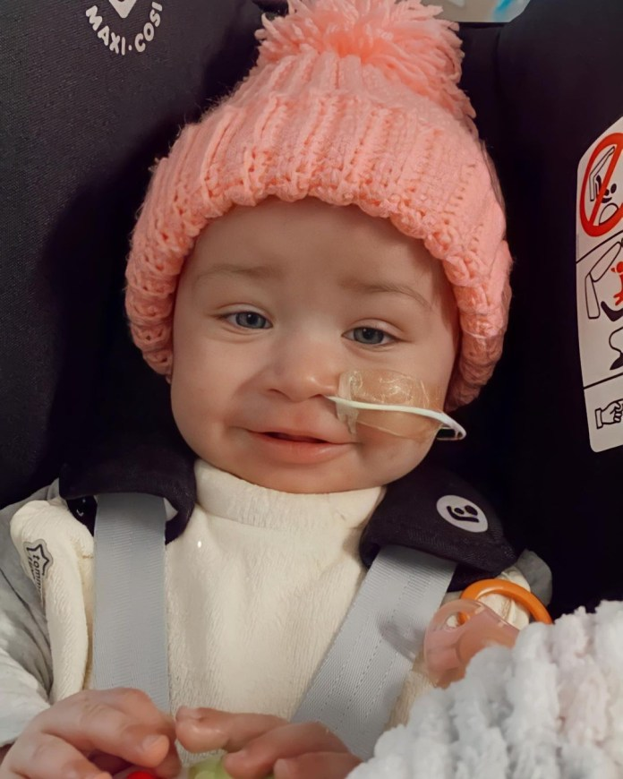 Ashley's baby Azaylia has leukaemia